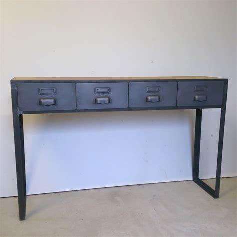 tiroirs sur mesure console style industriel avec tiroirs sur mesure