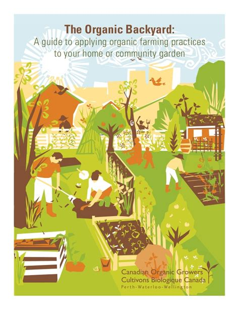 The Organic Backyard: A Guide To Applying Organic Farming