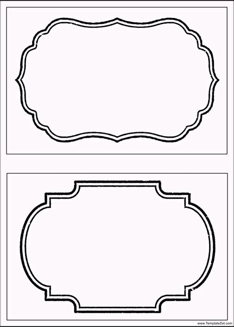 Printable Template free printable label templates templatezet