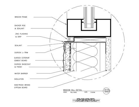 USG Design Studio   09 21 16.03.121 DUROCK Window Sill