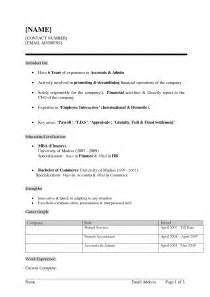 sle of simple resume resume sles for chronological resume templates