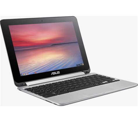 Laptop Asus Flip buy asus c100pa 10 1 chromebook flip silver free delivery currys
