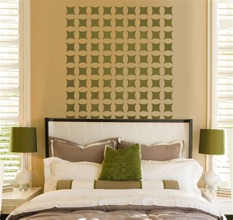 bedroom wall patterns home decor wall stencils contemporary bedroom new