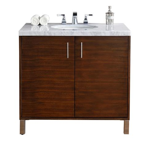 Martin Vanity by Martin Signature Vanities Metropolitan 36 In W Single Vanity In American Walnut With