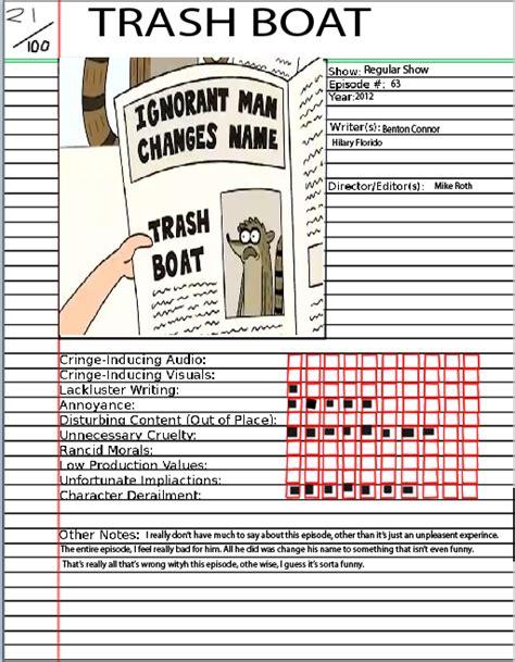 regular show trash boat watchcartoononline animated atrocities trash boat by sasmouth5 on deviantart