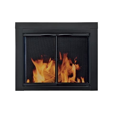 pleasant hearth alpine fireplace glass door for masonry