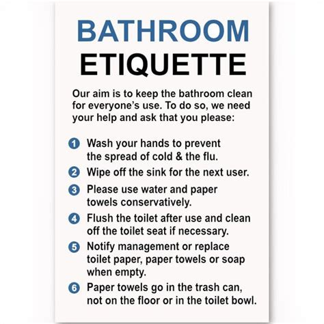 after after finding and keeping the of a lifetime books bathroom etiquette sign custom signs