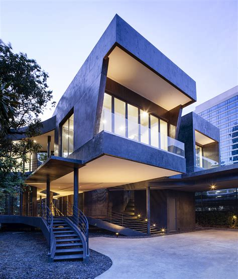 house architectural beautiful divergence house in thailand by fos wave avenue