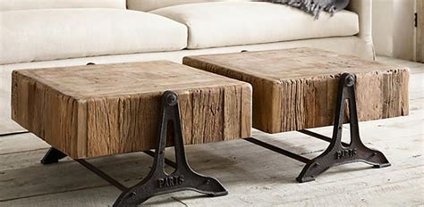 Table contemporaine bois fer