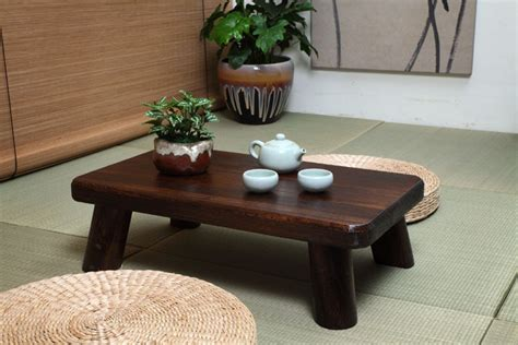 floor dining table small japanese wood table traditional rectangle 60 35cm