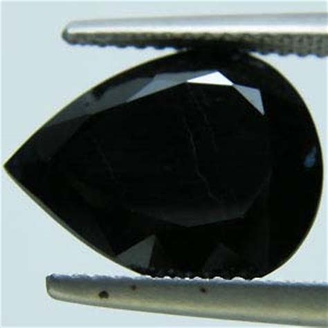 Black Sapphire Corundum black sapphire pear cut stones corundum black grey