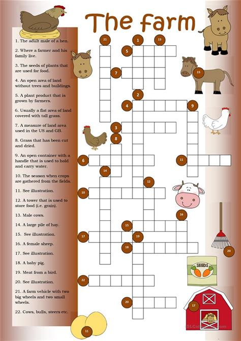 Mainan Edukasi Puzzle I Spell The Farm crossword the farm worksheet free esl printable worksheets made by teachers