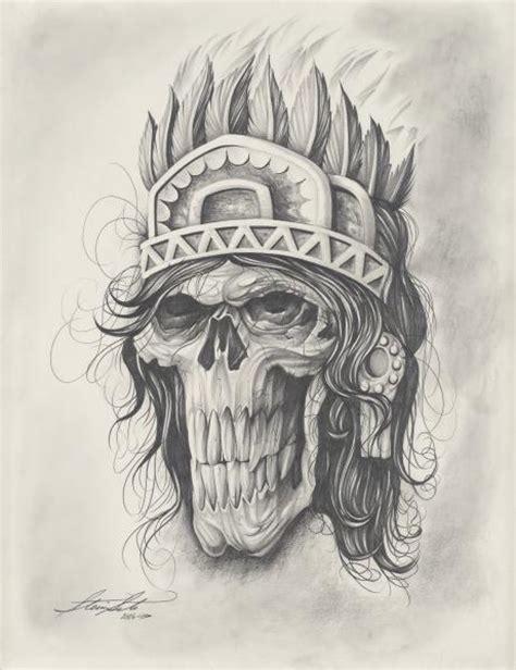 aztec skull tattoo walking dead