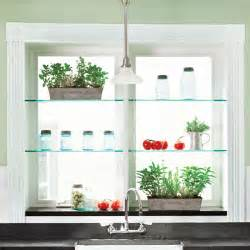 kitchen window shelf ideas august glass shelves brighten a kitchen window 88