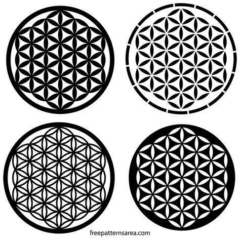 pattern flower of life sacred geometry flower of life free pattern freepatternsarea