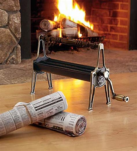 Paper Logs - newspaper log roller create your own starter logs the