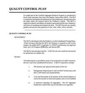 Quality Plan Template Free sle quality plan template 8 free documents