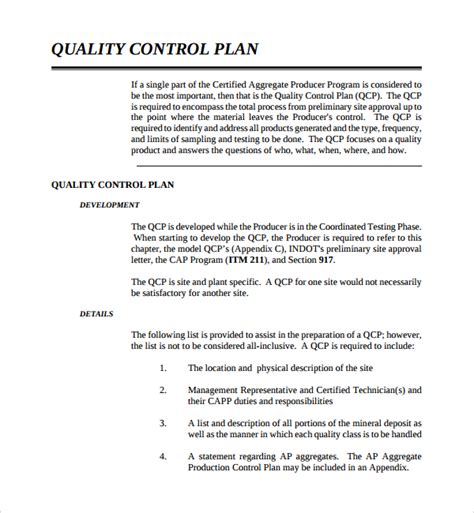 beautiful quality assurance plan template exams answer com