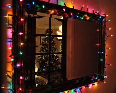 christmas light wrapped frame pictures photos and images