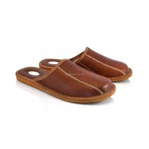 buy brown leather house slippers mules for model no 332j
