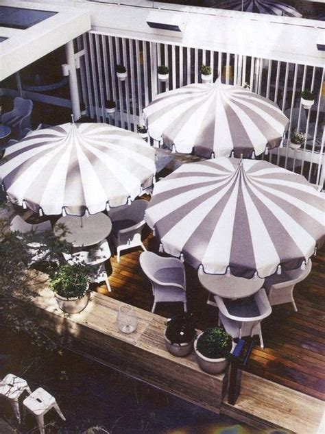 Best Outdoor Patio Umbrellas A Twist On The Expected Black And White Patio Umbrella