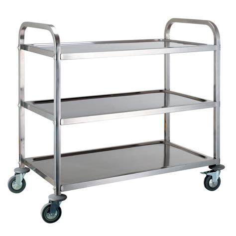 Kitchen Serving Cart by 3 Tier Stainless Steel Kitchen Dining Trolley Serving