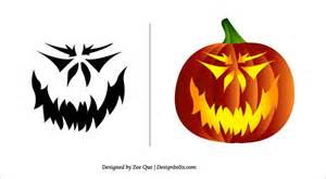 10 free printable scary pumpkin 10 free scary pumpkin carving patterns stencils