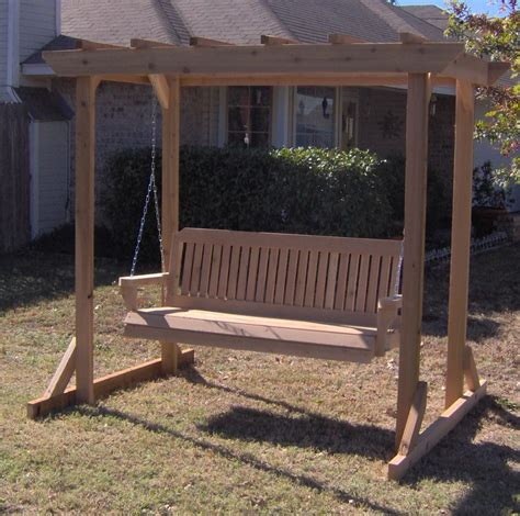 arbor swing frame this item combines an all cedar garden arbor with one of