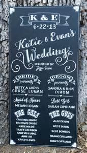 chalkboard program wedding discover and save creative ideas