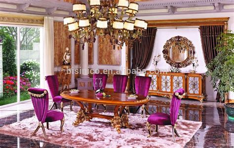 Versace Bulat new classic style wood carved dining table set