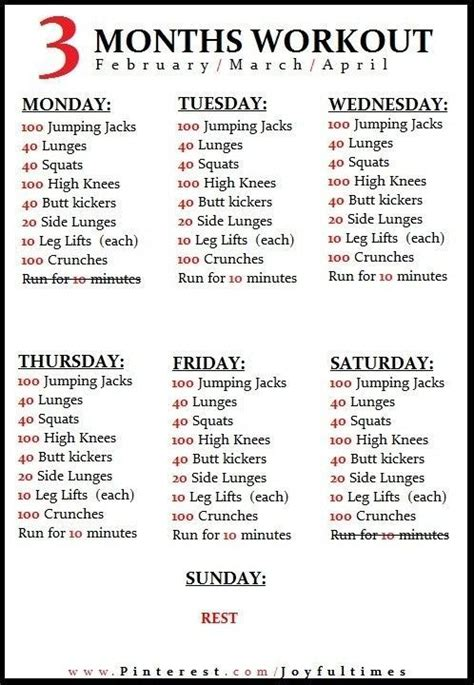 25 best ideas about weekly workout routines on pinterest