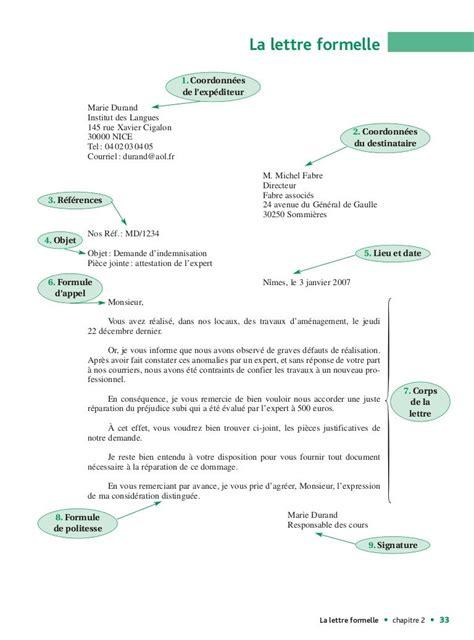 format date en francais la lettre formelle 1 coordonn 233 es de l exp 233 diteur marie