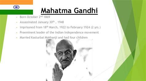 mahatma gandhi biography in hindi ppt mahatma gandhi online presentation