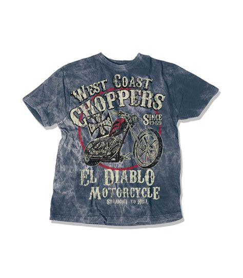T Shirt West Coast Choppers Hitam West Coast Choppers T Shirt El Diablo Vintage