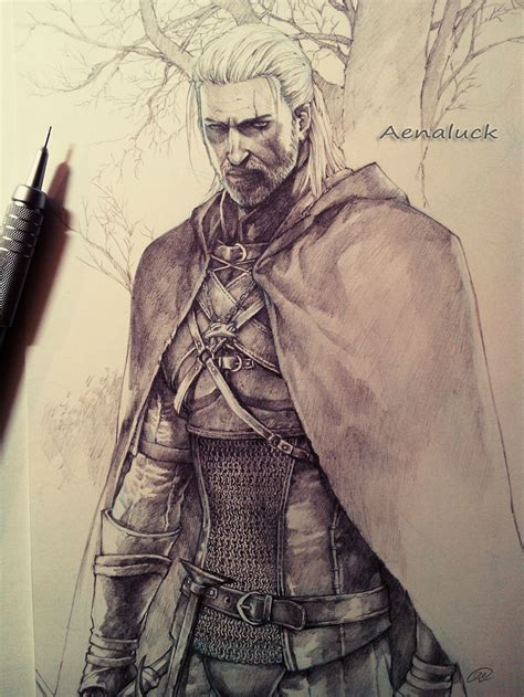 Witcher 3 Sketches by Geralt From The Witcher 3 By Aenaluck Fighter Ranger Guard