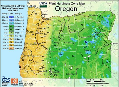 oregon map usa usda hardiness zone maps of the united states landscape