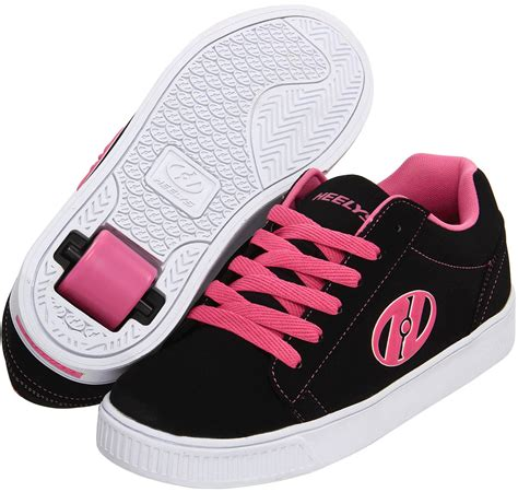 heelys shoes heelys up roller shoe black pink white