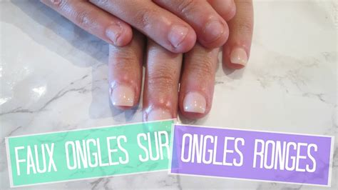 nail faux ongles tuto faux ongles sur ongles rong 233 s en acrylique