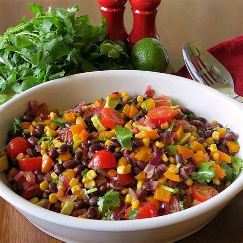 Fast Easy Dinner Black Bean Cobb Salad by Southwestern Black Bean Salad Joyful Homemaking