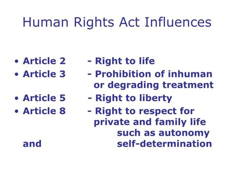 section 3 of the human rights act 1998 human rights act ppt mental capacity act powerpoint