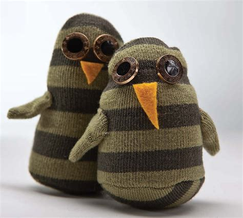 sock animals owl sock friends sewing tutorial favecrafts