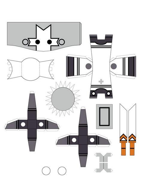 Castle Crashers Papercraft - grey by commissardom on deviantart