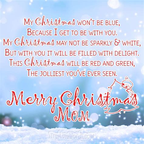 sweet merry christmas wishes  mom true love words