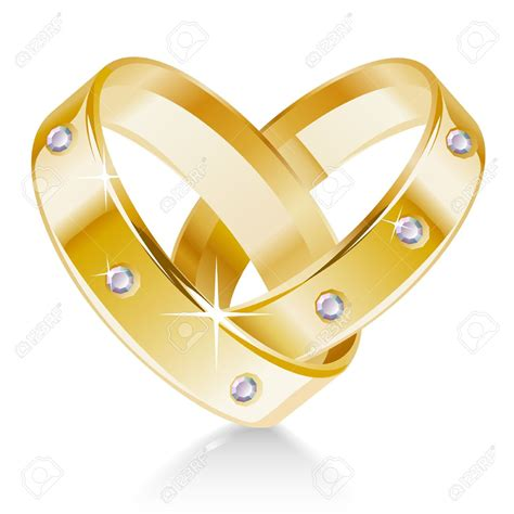 Two Wedding Rings by Wedding Rings Clipart Clipartxtras
