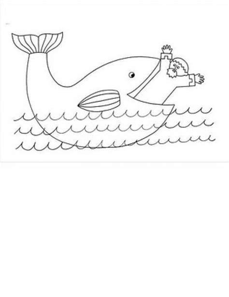 imagenes para colorear jonas dibujo de jonas trabado por el gran pez para colorear
