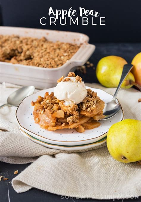 apple pear crumble easy pear apple crumble recipe somewhat simple