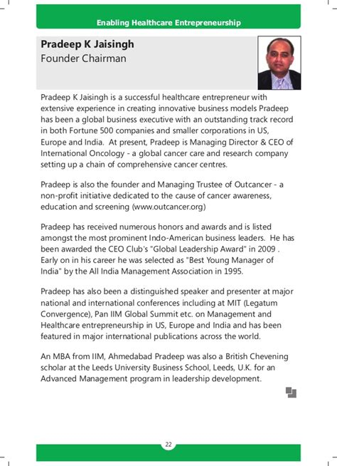 Mba In Hospital Management In Europe by Handbook Enabling Healthcare Entrepreneurship