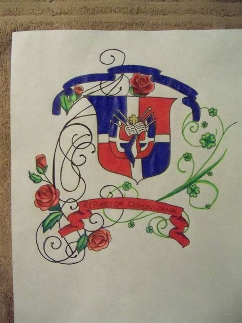 dominican flag tattoo designs sketch idea by slycaligirl on deviantart