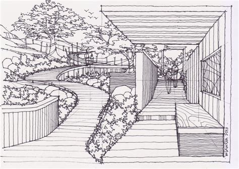 Drawing Of Garden | drawing pictures of garden drawing pictures