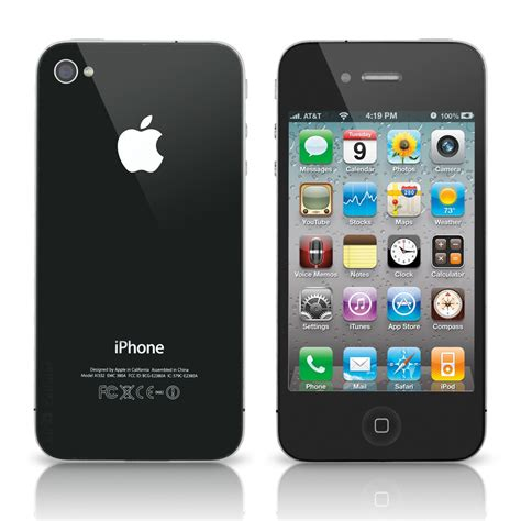 Iphone At T by Apple Iphone 4 A1332 At T 16gb Black Refurbished A4c